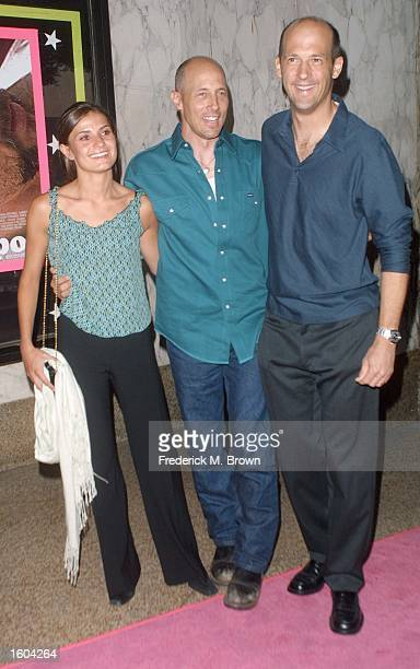 Actress Micol Bartolucci and actors Jon Gries and Anthony Edwards arrive for the film premiere of 'Jackpot' July 25 2001 in Los Angeles CA