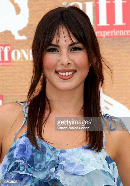 Actress Micol Olivieri attends a photocall during the Giffoni Experience 2010 on July 22 2010 in Giffoni Valle Piana Italy