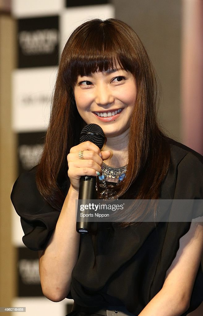 Miho Kanno Attends Press Conference In Tokyo : News Photo