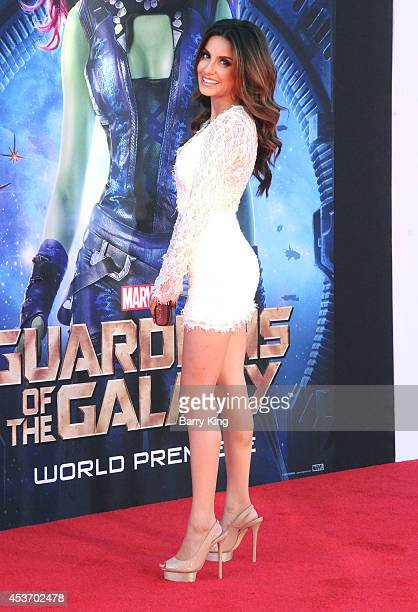 Actress Mikaela Hoover arrives at the Los Angeles Premiere 'Guardians Of The Galaxy' on July 21 2014 at the El Capitan Theatre in Hollywood California
