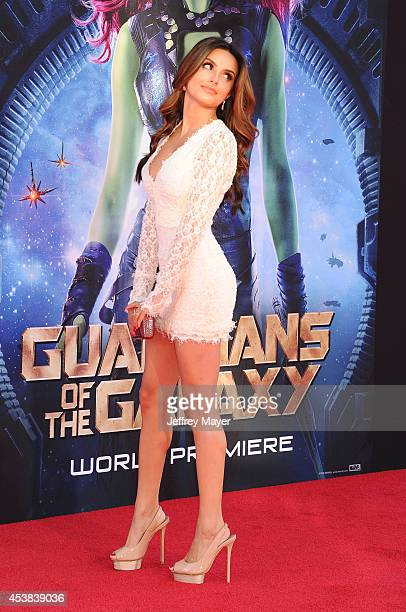 Actress Mikaela Hoover arrives at the Los Angeles premiere of Marvel's 'Guardians Of The Galaxy' at the El Capitan Theatre on July 21, 2014 in...