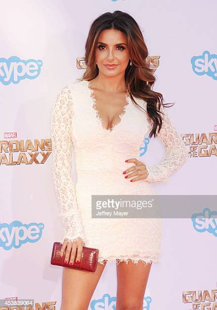 Actress Mikaela Hoover arrives at the Los Angeles premiere of Marvel's 'Guardians Of The Galaxy' at the El Capitan Theatre on July 21 2014 in...