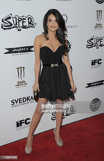 Actress Mikaela Hoover arrives at the premiere of IFC Midnight's 'Super' at the Egyptian Theatre on March 21, 2011 in Hollywood, California.