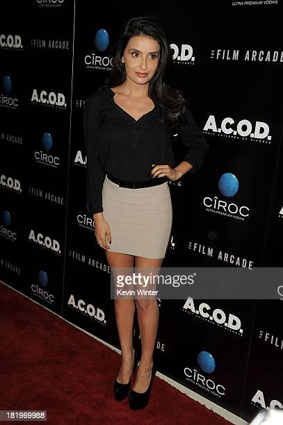 "Actress Mikaela Hoover attends the premiere of the Film Arcade's ""A.C.O.D."" at the Landmark Theater on September 26, 2013 in Los Angeles, California."