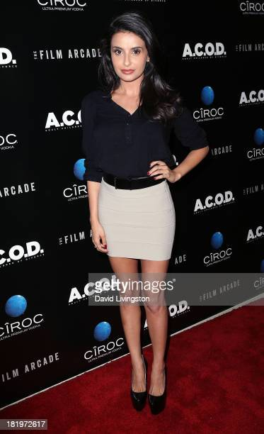 Actress Mikaela Hoover attends the premiere of the Film Arcade's ACOD at the Landmark Theater on September 26 2013 in Los Angeles California