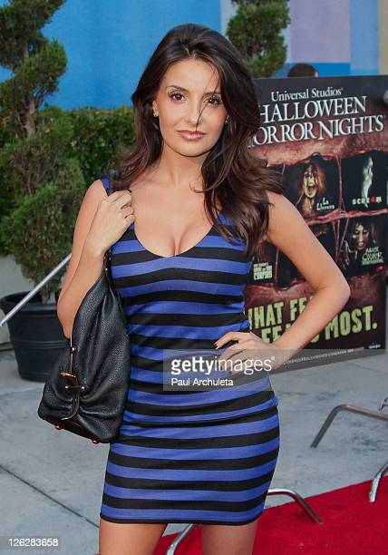 Actress Mikaela Hoover attends the Universal Studios Halloween Horror Nights with the Eyegore awards ceremony at Universal Studios Hollywood on...