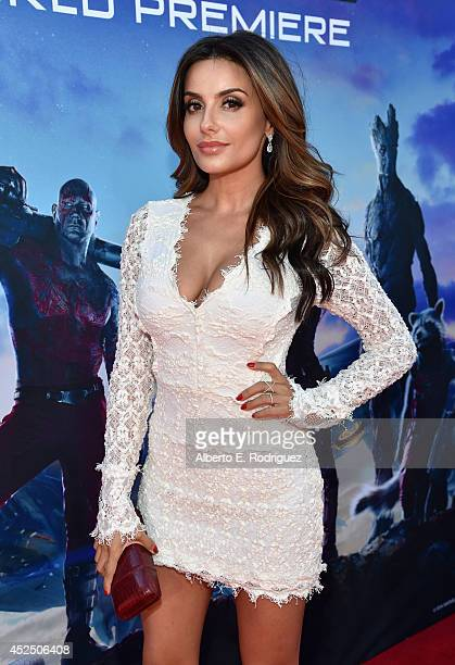 "Actress Mikaela Hoover attends The World Premiere of Marvel's epic space adventure ""Guardians of the Galaxy,"" directed by James Gunn and presented in..."