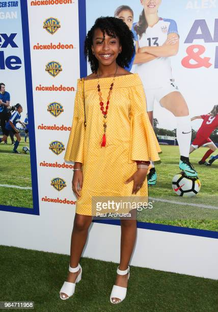Actress Mikari Tarpley attends the premiere of Warner Bros Home Entertainment's 'Alex Me' at the Directors Guild Of America on May 31 2018 in Los...