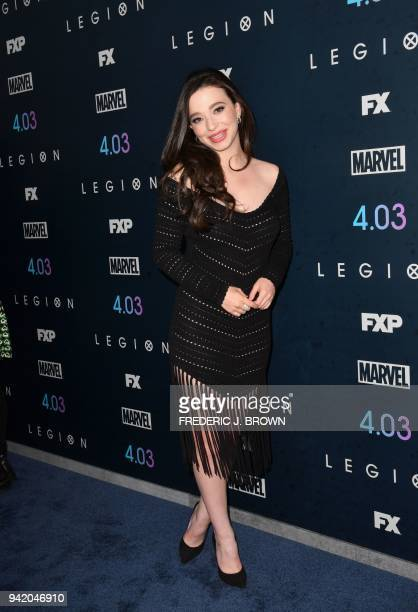 Actress Mikey Madison arrives for the Season Two Premiere of FX's Legion in Los Angeles CAlifornia on April 2 2018 / AFP PHOTO / Frederic J Brown