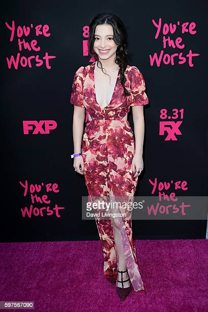 Actress Mikey Madison attends the premiere of FXX's 'You're the Worst' Season 3 on August 28 2016 in Los Angeles California