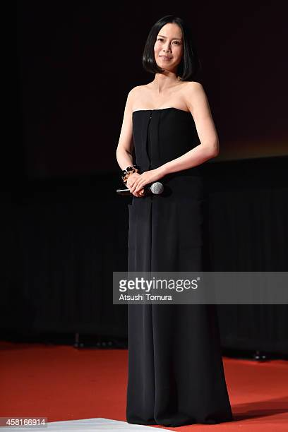 Actress Miki Nakatani attends the closing ceremony of the 27th Tokyo International Film Festival at Roppongi Hills on October 31, 2014 in Tokyo,...