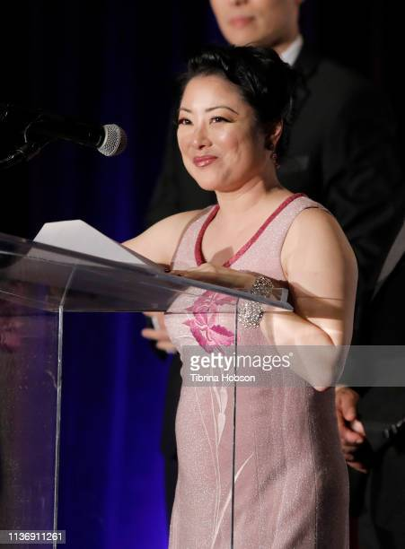 Actress Miki Yamashita hosts the 16th annual 'Gathering for Cure' black tie awards gala of Brain Mapping Foundation on March 16 2019 in Los Angeles...