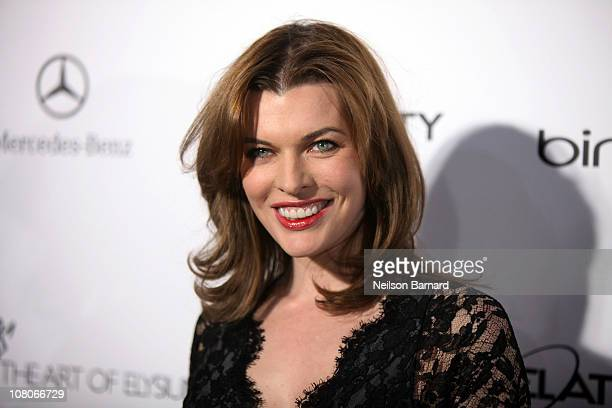 Actress Mila Jovovich attends the Art Of Elysium Heaven Gala 2011 at The California Science Center Exposition Park on January 15 2011 in Los Angeles...