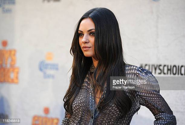 Actress Mila Kunis arrives at Spike TV's 5th annual 2011 'Guys Choice' Awards at Sony Pictures Studios on June 4 2011 in Culver City California