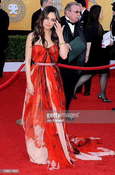 Actress Mila Kunis arrives at the 17th Annual Screen Actors Guild Awards at The Shrine Auditorium on January 30, 2011 in Los Angeles, California.