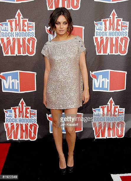 Actress Mila Kunis arrives at the 2008 VH1 Rock Honors honoring The Who at UCLA's Pauley Pavilion on July 12 2008 in Los Angeles California