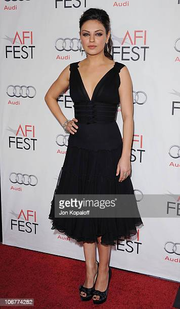 Actress Mila Kunis arrives at the 2010 AFI Fest Black Swan Premiere Closing Night Gala at Grauman's Chinese Theatre on November 11 2010 in Hollywood...