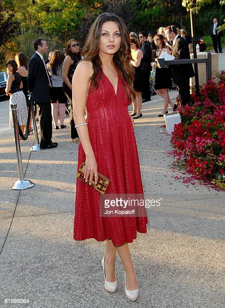 Actress Mila Kunis arrives at the 7th Annual Chrysalis Butterfly Ball at a private residence on May 31 2008 in Brentwood California