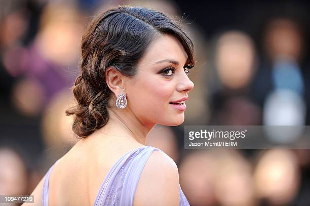 Actress Mila Kunis arrives at the 83rd Annual Academy Awards held at the Kodak Theatre on February 27 2011 in Hollywood California