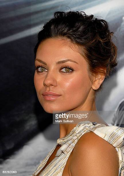Actress Mila Kunis arrives at the 'Max Payne' Los Angeles Premiere at the Mann's Grauman Chinese Theater on October 13 2008 in Hollywood California