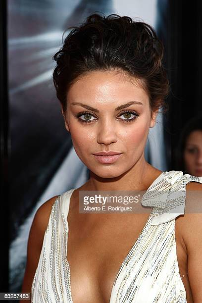 Actress Mila Kunis arrives at the premiere of 20th Century Fox's 'Max Payne' held at Mann's Chinese Theater on October 13 2008 in Los Angeles...