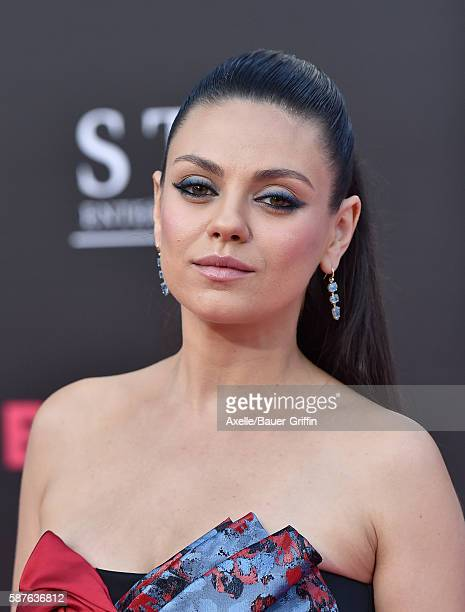 Actress Mila Kunis arrives at the premiere of STX Entertainment's 'Bad Moms' at Mann Village Theatre on July 26 2016 in Westwood California