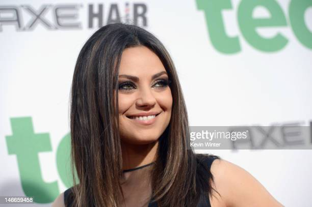 Actress Mila Kunis arrives at the Premiere of Universal Pictures' Ted sponsored in part by AXE Hair at Grauman's Chinese Theatre on June 21 2012 in...