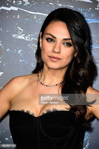 Actress Mila Kunis arrives at the Premiere of Warner Bros Pictures' Jupiter Ascending at TCL Chinese Theatre on February 2 2015 in Hollywood...