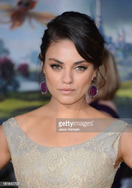 Actress Mila Kunis arrives for the world premiere of Walt Disney Pictures' 'Oz The Great And Powerful' at the El Capitan Theatre on February 13 2013...
