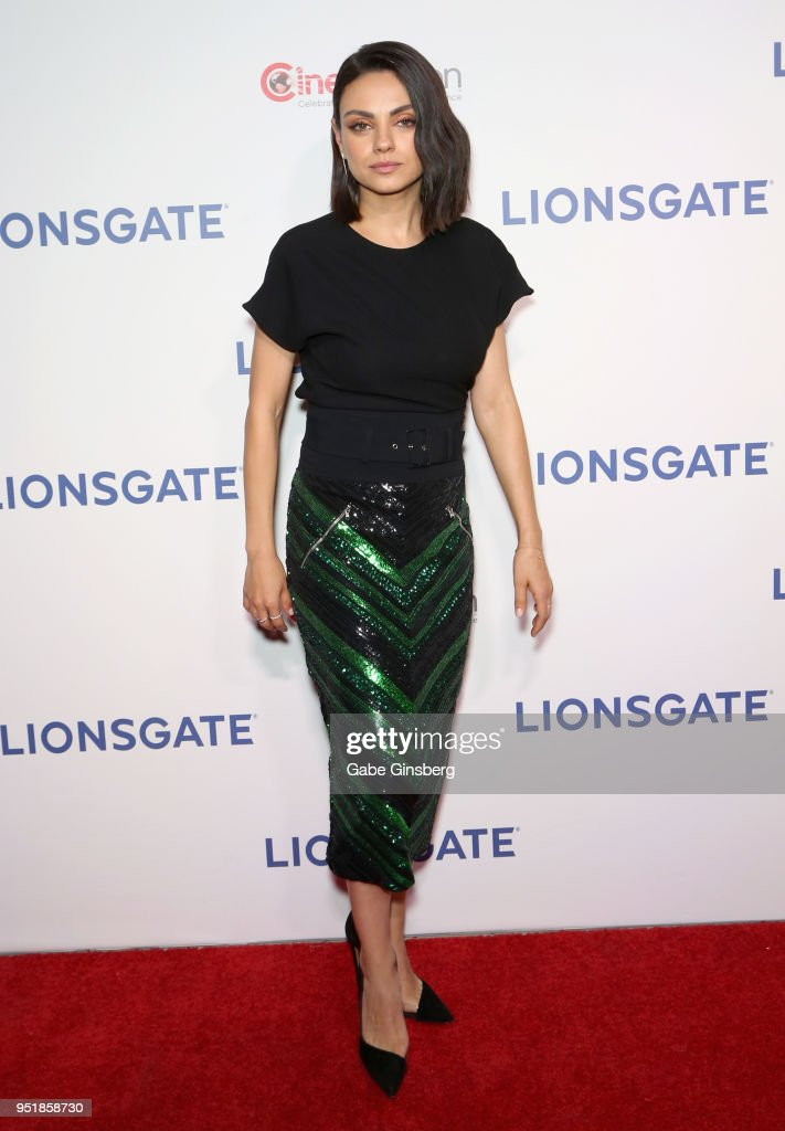 Actress Mila Kunis attends CinemaCon 2018 Lionsgate Invites You to An Exclusive Presentation Highlighting Its 2018 Summer and Beyond at The Colosseum at Caesars Palace during CinemaCon, the official convention of the National Association of Theatre Owners, on April 26, 2018 in Las Vegas, Nevada.