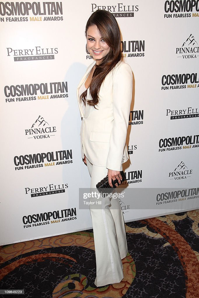 Actress Mila Kunis attends Cosmopolitan Magazine's Fun Fearless Males Of 2011 at The Mandarin Oriental Hotel on March 7, 2011 in New York City.