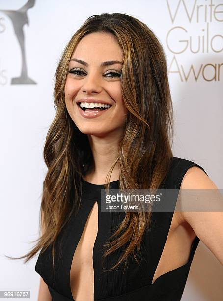 Actress Mila Kunis attends the 2010 Writers Guild Awards at Hyatt Regency Century Plaza Hotel on February 20 2010 in Los Angeles California