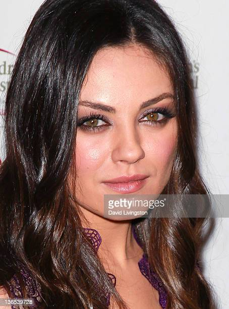 Actress Mila Kunis attends the 50th anniversary celebration for St. Jude Children's Research Hospital at The Beverly Hilton hotel on January 7, 2012...