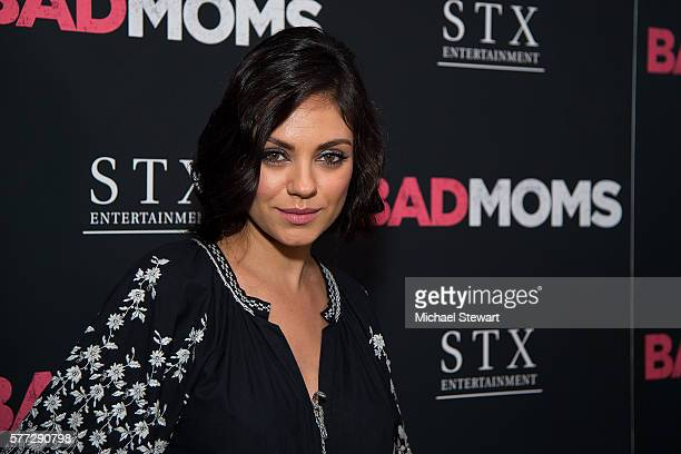 Actress Mila Kunis attends the 'Bad Moms' New York premiere at Metrograph on July 18 2016 in New York City
