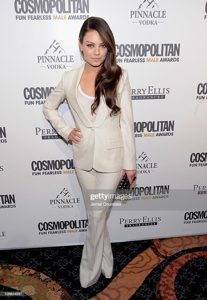 Actress Mila Kunis attends the Cosmopolitan Magazine's Fun Fearless Males Of 2011 at The Mandarin Oriental Hotel on March 7, 2011 in New York City.