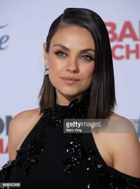 Actress Mila Kunis attends the premiere of STX Entertainment's 'A Bad Mom's Christmas' at Regency Village Theatre on October 30 2017 in Westwood...
