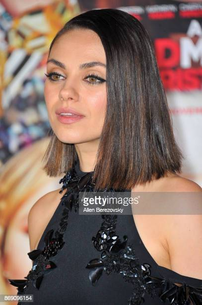 Actress Mila Kunis attends the premiere of STX Entertainment's A Bad Moms Christmas at Regency Village Theatre on October 30 2017 in Westwood...