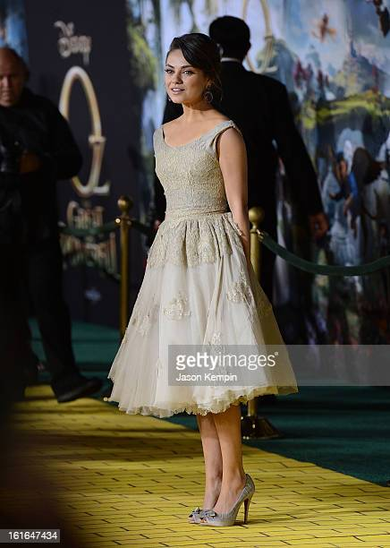 Actress Mila Kunis attends the premiere Of Walt Disney Pictures' Oz The Great And Powerful at the El Capitan Theatre on February 13 2013 in Hollywood...