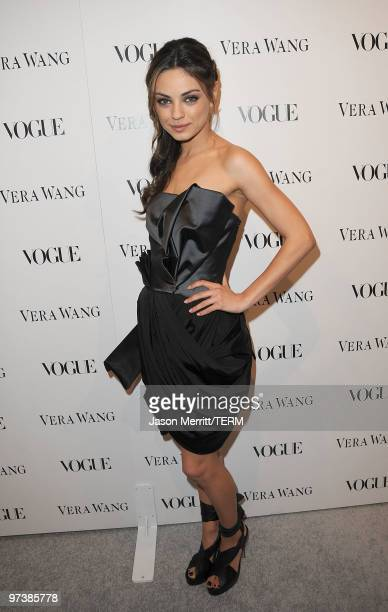 Actress Mila Kunis attends the Vera Wang Store Launch at Vera Wang Store on March 2 2010 in Los Angeles California