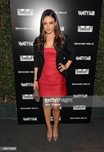 Actress Mila Kunis attends Vanity Fair Campaign Hollywood 2011's Richard Mille Toasts Fox Searchlight Films held at Bar Marmont on February 24 2011...