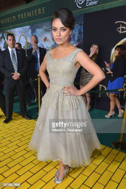 Actress Mila Kunis attends Walt Disney Pictures World Premiere of Oz The Great And Powerful Red Carpet at the El Capitan Theatre on February 13 2013...