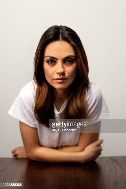 Actress Mila Kunis from 'Four Good Days' is photographed in the LA Times Studio at the Sundance Film Festival on January 25 2020 in Park City Utah...