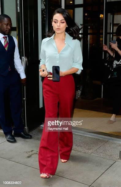 Actress Mila Kunis is seen walking in midtown on July 31 2018 in New York City