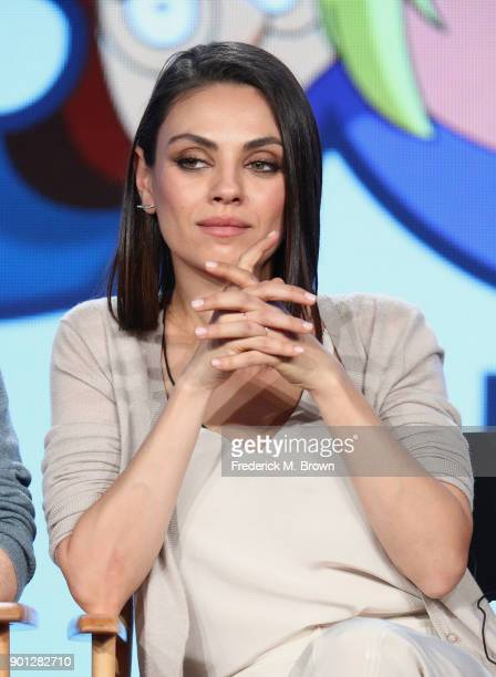 Actress Mila Kunis of the television show Family Guy speaks onstage during the FOX portion of the 2018 Winter Television Critics Association Press...