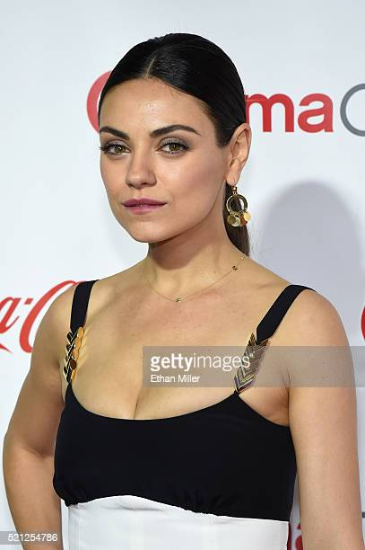 Actress Mila Kunis one of the recipients of the Female Stars of the Year Award attends the CinemaCon Big Screen Achievement Awards brought to you by...