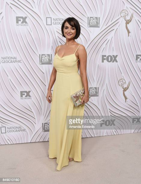 Actress Milana Vayntrub arrives at the FOX Broadcasting Company Twentieth Century Fox Television FX and National Geographic 69th Primetime Emmy...