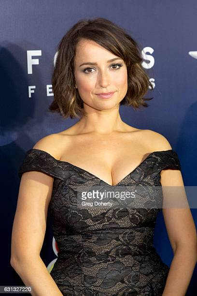 Actress Milana Vayntrub arrives at the NBCUniversal's 74th Annual Golden Globes After Party at The Beverly Hilton Hotel on January 8 2017 in Beverly...