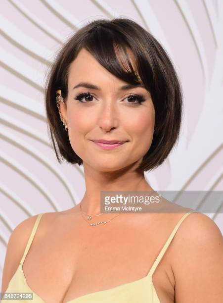 Actress Milana Vayntrub attends FOX Broadcasting Company Twentieth Century Fox Television FX And National Geographic 69th Primetime Emmy Awards After...