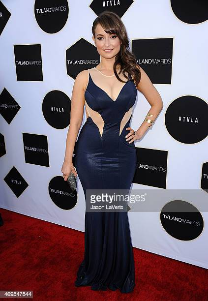 Actress Milana Vayntrub attends the 2015 TV LAND Awards at Saban Theatre on April 11 2015 in Beverly Hills California