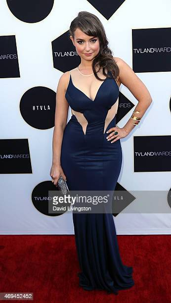 Actress Milana Vayntrub attends the 2015 TV Land Awards at the Saban Theatre on April 11 2015 in Beverly Hills California